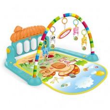 Детский Развивающий Музыкальный Игровой Коврик для малышей, пианино, съемные игрушки, 72х47 см арт. 0639