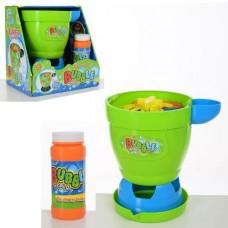 Развлекательный игровой набор для детей - Генератор запуска мыльных пузырей, мыльный раствор в комплекте