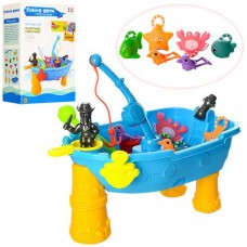 """Детский игровой столик """"Рыбалка + песочница"""" (6 обитателей, сачок и удочка), размер 51-30,5-23,5 см арт. 057"""