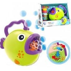 """Детская развлекательная установка генератор для запуска мыльных пузырей """"Рыбка"""", размер 23-10-17 см арт. 8808"""