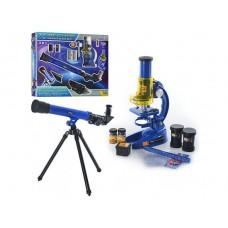 Детский Обучающий набор Исследователя Микроскоп (19.5х11х7 см) и Подзорная труба (43,5х13х5.5 см) арт. 031
