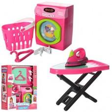Детский набор - стиральная машинка, утюг, гладильная доска от Keenway со световыми и звук эффектами арт. 21671