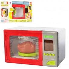 Детская микроволновая печь с звуковыми эффектами, 4 режима работы, размер игрушки 21-13-13 см арт. 14002