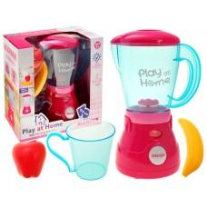 Детский игрушечный функциональный блендер + (фрукты, стакан) Play at home со световыми эффектами арт. 26137