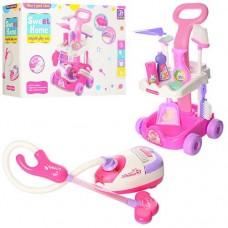 Детский игрушечный набор для уборки с пылесосом, шваброй, щеткой, совоком,  со световыми эффектами арт. 5938