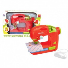 Детская Игровая Швейная Машинка для девочек для безопасного обучения шитью, 25х10х21 см, красная, арт. 14055