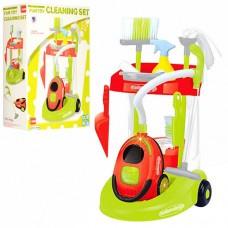 Детский игрушечный набор для уборки с пылесосом Cleaning Set, со световыми и звуковыми эффектами арт. 14066