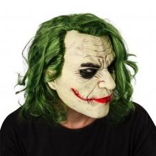 Маска Джокер с волосами - Бэтмен Темный рыцарь, размер универсальный, для детей и взрослых, для маскарада