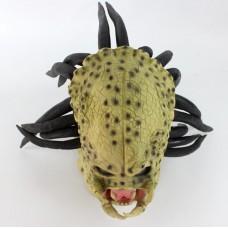 Маска латексная Хищника, размер универсальный, для детей и взрослых, для маскарада, карнавала, вечеринки