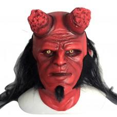 Маска Хеллбой Герой из пекла, размер универсальный, красная, латексная, для детей и взрослых - Hellboy, GeekLand