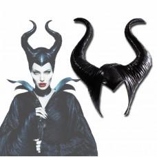 Маска Рога королевы Малефисента Maleficenta, для маскарада, размер 56-57 см, высота рога 26 см, высота 43 см
