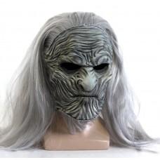 Маска Белого Ходока Игра Престолов, размер универсальный, светло-серая - White Walker Game of Thrones, GeekLand