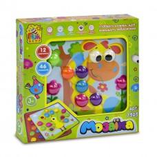 Настольная игра Цветная мозаика с картонными трафаретами (12 шаблонов - трафаретов, 46 фишек) от Fun Game арт. 7393