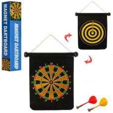 Развивающая спортивная игра для детей на меткость и ловкость Дартс Магнитный: размер мишени 31х40см, 4 дротика
