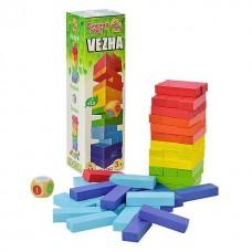 """Настольная деревянная игра """"Башня"""" + инструкция от ТМ Vega арт. 7362"""