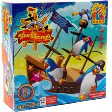 Настольная забавная игра Пингвинопад  (Корабль; морская волна, 16 пингвинов, инструкция) арт. 7228 43446-06 lvt-7228