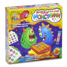 """Настольная игра для развития памяти """"Умные монстрики""""(поле, крышки, карточки, часы) от ТМ Fun Game арт. 7329"""