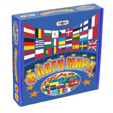 Настольная развивающая карточная игра Флаги мира для детей от 3 лет и взрослых: 216 карточек, игровое поле