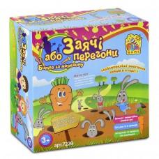 Настольная семейная развлекательная игра на скорость и реакцию для 2-4 игроков Заячьи гонки Битва за морковку