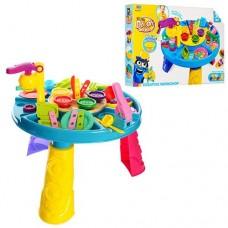 Детский столик с набором для лепки ( 5 баночек с цветным тестом) с аксессуарами и формочками  арт. 0429 (8724) 43950-06 lvt-0429