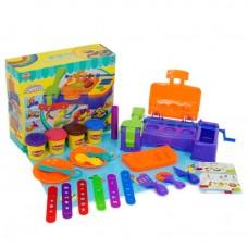 Детский цветной пластилин (тесто) для лепки в контейнере с аксессуарами и формочками для лепки арт. 5016