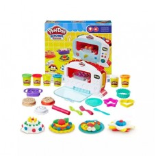 """Детский цветной пластилин (тесто) для творчества """"Волшебная печь"""" с аксессуарами и формочками арт. 6621"""