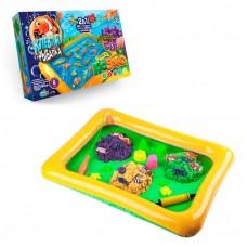 Игра 2 в 1  Рыбалка и Кинетический песок в надувном бассейне с формочками и рыбками (15 штук)  арт. 01-01 44243-06 lvt-01-01
