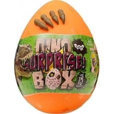 Детский Подарочный набор Яйцо-сюрприз Dino Surprise Box для игровых занятий, раскопок и творчества, оранжевый