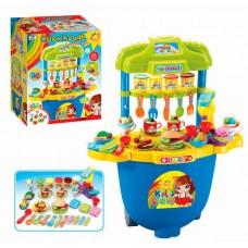 Детский столик с набором для лепки Кафе на колесах (тесто) с аксессуарами и формочками   арт. 008-99 44008-06 lvt-008-99