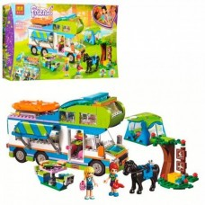 Детский Развивающий Конструктор для девочек Bela Friends Дом на колёсах, 493 детали, 2 фигурки арт. 10858