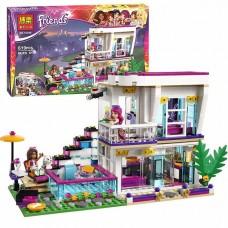 Конструктор для девочек Поп-звезда: дом Ливи 619 деталей, мини-куклы, собачка, одежда, аксессуары - Bela Friend