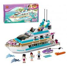 Конструктор для девочек Круизный лайнер: 618 деталей, кухня, каюты, водная горка, 3 мини-куклы - Bela Friend