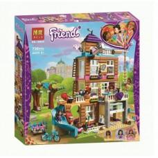 Конструктор для девочек Дом дружбы 730 деталей, 3 мини-куклы, терраса, горка, уличные качели - Bela Friend