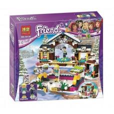 Конструктор для девочек Горнолыжный курорт 313 деталей для постройки, 2 мини-куклы, аксессуары - Bela Friend