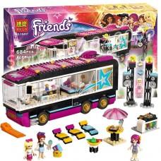 Детский Развивающий Конструктор для девочек Bela Friends Поп-звезда Гастроли, 684 детали, 3 фигурки арт. 10407