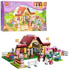 Конструктор для девочек Городские конюшни 400 деталей, мини-куклы, фигурки лошадей, аксессуары - Bela Friend