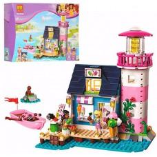 Конструктор для девочек Маяк в Хартлейке: 478 деталей, кафе-кондитерская, 2 мини-куклы, котик - Bela Friend