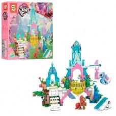 Детский Развивающий Конструктор для девочек My Little Pony Хрустальный замок пони, 359 деталей арт. 1096 55197-06 lvt-1096