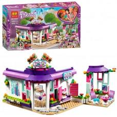 Конструктор для девочек Арт-кафе Эммы: 384 детали, здание с летней площадкой, 2 мини-куклы - Bela Friend