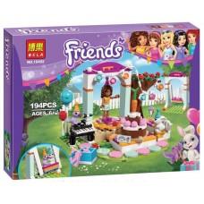 Детский Развивающий Конструктор для девочек Bela Friends День рождения, 194 детали, 3 фигурки арт. 10492 43738-06 lvt-10492