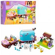 """Конструктор для девочек с фигурами  Friends """"Эмма и трейлер для лошадки"""" 217 деталей арт. 10161"""