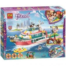 Конструктор для девочек Спасательный катер: 945 деталей, 3 мини-куклы, робот, лодка, аксессуары - Lari Friend