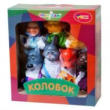 Игровой Набор из 7 кукол-перчаток для домашнего Кукольного театра - сказка Колобок для детей и взрослых арт. 065