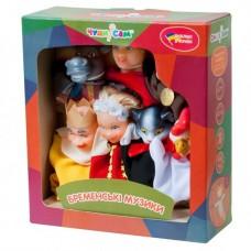 Игровой Набор из 7 кукол-перчаток для домашнего Кукольного театра - сказка Бременские музыканты арт. 188*