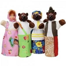 Игровой Набор кукол-перчаток для домашнего Кукольного театра - сказка Три медведя для детей и взрослых арт. 163*