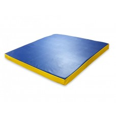 Гимнастический прямой мат для домашних тренировок и детских спортивных комплексов 100х100х8см синий 61430