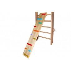 Детская деревянная Ребристая доска с цветными зацепами для дома и спортзала, нагрузка до 100кг, 165х35см 61380