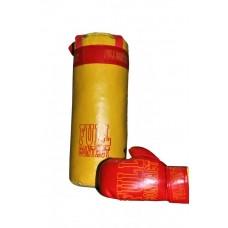 Детский спортивный Набор: Боксерская груша и перчатки для спортивных комплексов, материал: кожзаменитель 61371