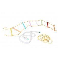 Веревочный набор для детского спортивного комплекса: лестница с цветными перекладинами, кольца, канат 61561