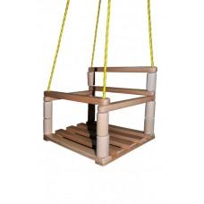 Подвесные качели с буковыми перекладинами для спортивного уголка, для детей до 3 лет, цвет: натуральный 61361